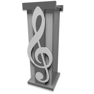 Picture of UMBRELLA RACK TREBLE CLEF GREY WHITE