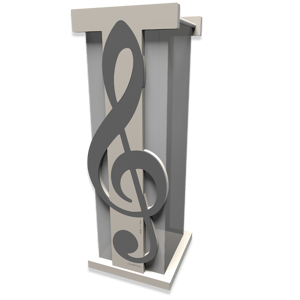 Picture of UMBRELLA RACK TREBLE CLEF QUARTZ GREY