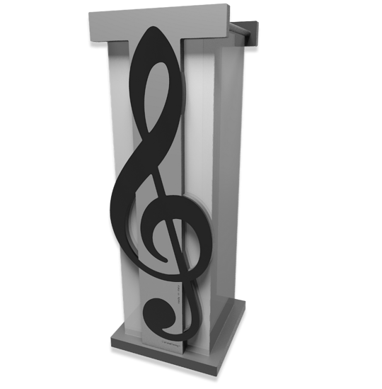 Picture of UMBRELLA RACK TREBLE CLEF BLACK