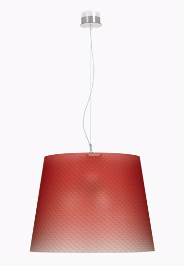 Picture of EMPORIUM BOEMIA SUSPENSION LAMP RED Ø66cm
