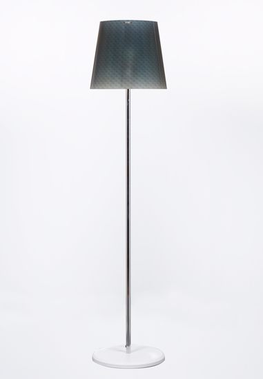 Picture of EMPORIUM BOEMIA MODERN FLOOR LAMP WITH SHADE IN POLYCARBONATE GREY