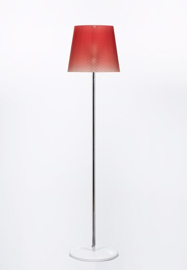 Picture of EMPORIUM BOEMIA MODERN FLOOR LAMP WITH SHADE IN POLYCARBONATE RED