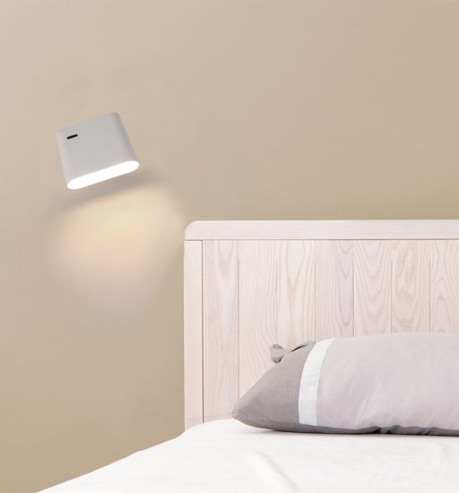 Picture of FARO AUREA WALL BEDSIDE LAMP LED WHITE ADJUSTABLE