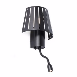 Picture of FARO MIX WALL BEDSIDE LAMP WITH DOUBLE LIGHT LED BLACK