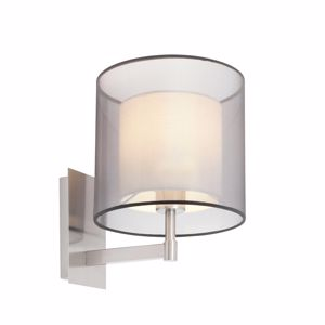 Picture of FARO SABA WALL LAMP WITH DOUBLE SHADE IN WHITE FABRIC
