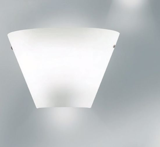 Picture of ANTEA LUCE MELODY LIGHT WALL LAMP 35CM 3 LIGHTS WHITE GLASS