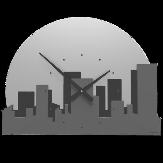 Picture of CALLEA DESIGN SKYLINE WALL CLOCK QUARTZ GREY
