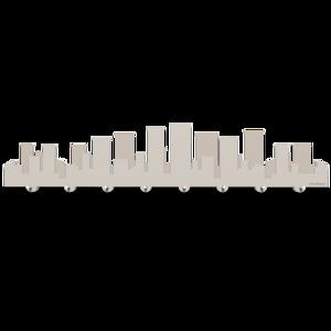 Picture of CALLEA DESIGN SKYLINE METROPOLIS WALL KEY HOLDER MODERN DOVE GREY