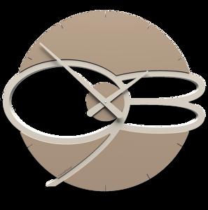 Picture of CALLEA DESIGN MAX MODERN WALL CLOCK WOOD CAFFELATTE