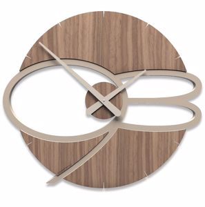 Picture of CALLEA DESIGN MAX MODERN WALL CLOCK WOOD BLACK WALNUT