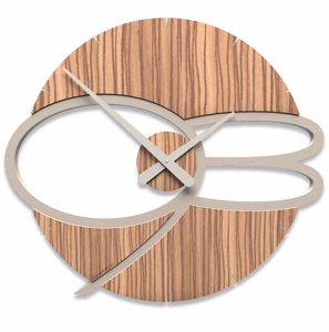 Picture of CALLEA DESIGN MAX MODERN WALL CLOCK WOOD ZINGANA COLOUR