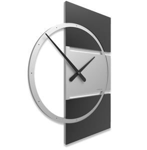 Picture of CALLEA DESIGN WALL CLOCK ADAM MODERN DESIGN BLACK WOOD