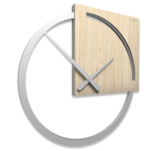 Picture of CALLEA DESIGN KARL WALL CLOCK MODERN DESIGN PICKLED OAK