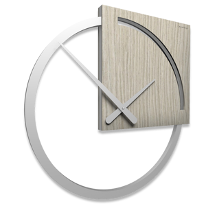 Picture of CALLEA DESIGN KARL WALL CLOCK MODERN DESIGN BREEZE OAK