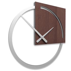 Picture of CALLEA DESIGN KARL WALL CLOCK MODERN DESIGN WENGE OAK