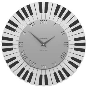 Picture of CALLEA DESIGN DONIZETTI WALL CLOCK PIANO KEYBOARD GREY