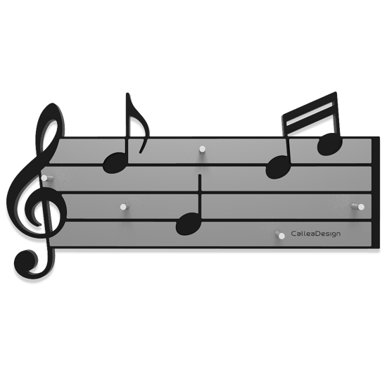 Picture of CALLEA DESIGN TARTINI KEY HOLDER STAVE AND MUSICAL NOTES BLACK AND GREY