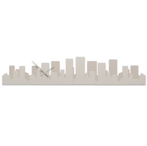 Picture of CALLEA DESIGN PANORAMIC SKYLINE WALL CLOCK DOVE GREY