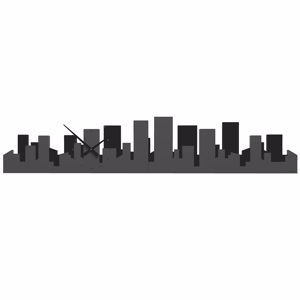 Picture of CALLEA DESIGN PANORAMIC SKYLINE WALL CLOCK QUARTZ GREY