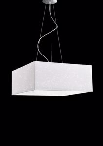 Picture of ANTEALUCE LUCE SPARK CHANDELIER SQUARE 50CM GLITTER WHITE FABRIC