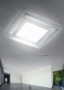 Picture of ANTEA LUCE SPACE CEILING WALL LAMP 48CM LED 26W SATIN GLASS