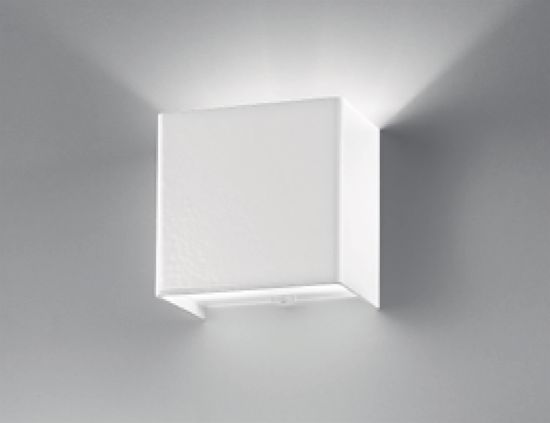 Picture of ANTEA LUCE LINEAR METAL WHITE WALL LAMP CUBOTTO WHITE METAL