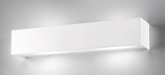 Picture of ANTEA LUCE LINEAR METAL WHITE WALL LAMP RECTANGULAR WHITE 48CM