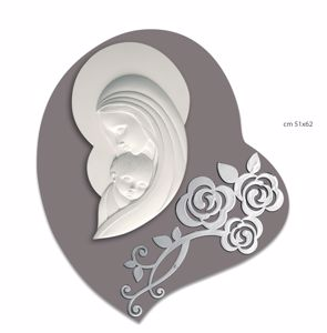Picture of MODERN ART ABOVE BED MOTHER WITH CHILD HEART SHAPED DOVE GREY