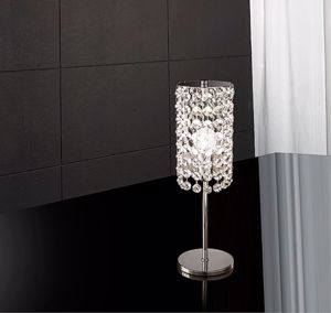 Picture of ANTEA LUCE IKE BEDSIDE LAMP CYLINDER OF CRYSTALS 30% LEAD