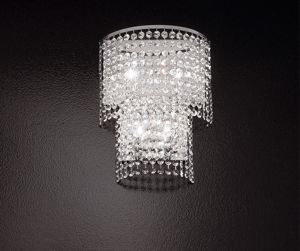 Picture of WALL LIGHT FACETED GROUND CRYSTALS KEY COLLECTION BY ANTEA LUCE