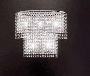 Picture of WALL LIGHT GROUND FACETED CRYSTAL 30% OF LEAD ANTEA LUCE KEY