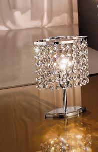 Picture of  ANTEA LUCE KEY BEDSIDE LAMP OVAL TRANSPARENT CRYSTALS