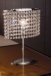 Picture of ANTEA LUCE KEY TABLE LAMP CASCADE OF CRYSTALS