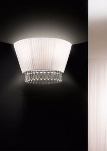 Picture of ANTEA LUCE PAOLINA WALL LAMP FABRIC SAIL-SHAPE WITH CRYSTAL 30% LEAD