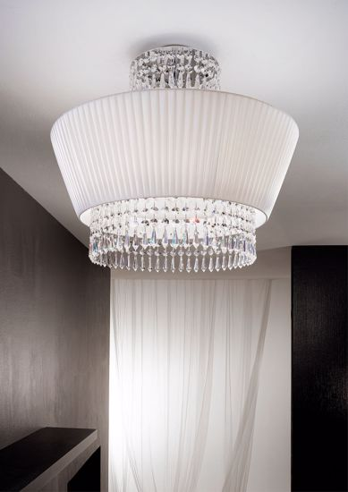 Picture of ANTEA LUCE PAOLINA CEILING LAMP PONGE CRYSTAL 30% LEAD