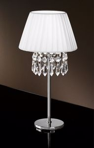 Picture of ANTEA LUCE PAOLINA CONTEMPORARY BEDSIDE LAMP TEXTILE AND GLASS