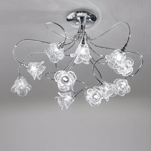 Picture of ANTEA LUCE MAGNOLIA CEILING LIAMP 12 LIGHTS WITH DOUBLE GLASS HANDMADE
