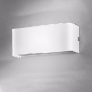 Picture of ANTEA LUCE LINEAR WHITE WALL LAMP LED 13W LED 25CM RECTANGULAR WHITE GLASS