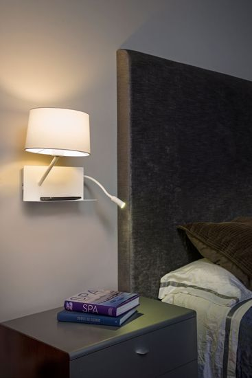 Picture of FARO BARCELONA HANDY WALL BEDSIDE WITH SHELF AND USB PORT LEFT