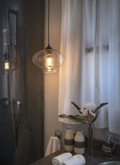 Picture of VINTAGE PENDANT LIGHT CLEAR GLASS Ø27
