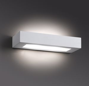 Picture of FARO BARCELONA OLAF WALL LAMP WHITE GYPSUM SQUARE