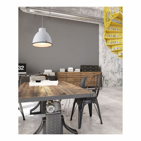 Picture of FARO BARCELONA CHARLOTTE SUSPENSION DOME WHITE METAL FOR KITCHEN TABLE