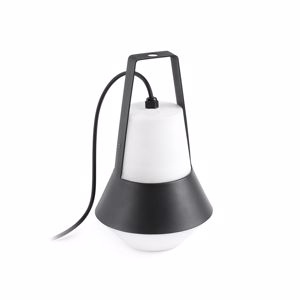 Picture of FARO BARCELONA CAT TABLE FLOOR LAMP BLACK OUTDOOR IP54