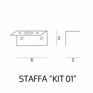 Picture of LINEA LIGHT KIT 01 FIXING WALL BRACKET