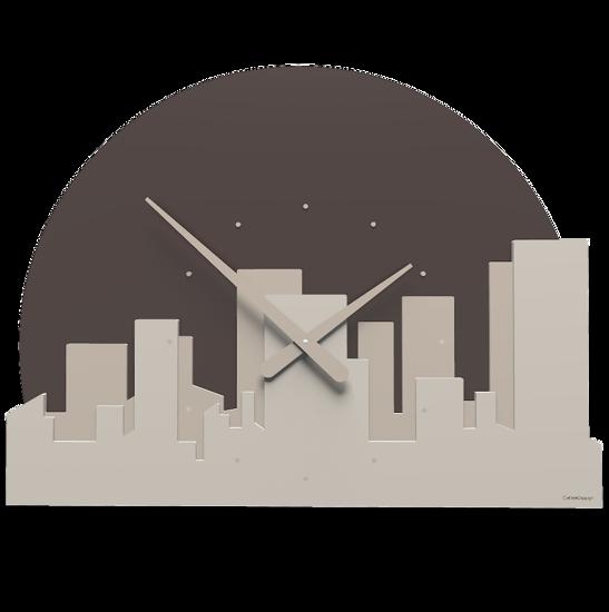 Picture of CALLEA DESIGN SKYLINE WALL CLOCK DOVE GREY