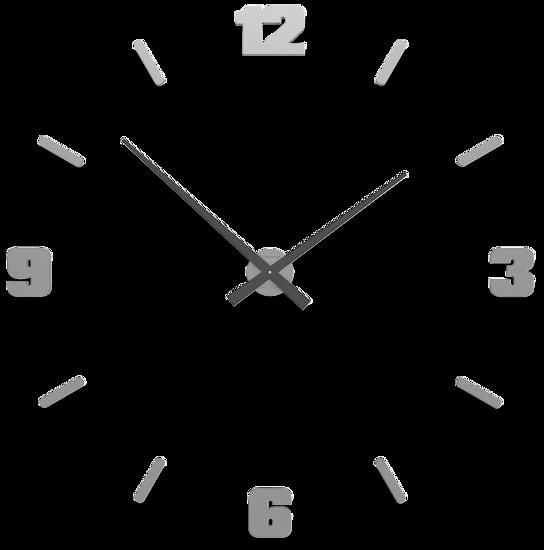 Picture of CALLEA DESIGN Ø100 CM BIG MODULAR CLOCK ALUMINIUM COLOUR