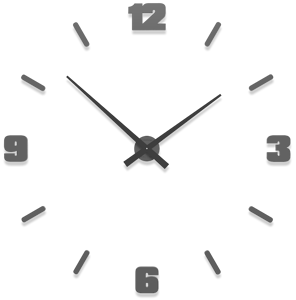 Picture of CALLEA DESIGN Ø100 CM BIG MODULAR CLOCK QUARTZ GREY