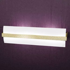 Picture of TOPLIGHT WOOD WALL LAMP EXTRA LARGE WOOD GOLD LEAF
