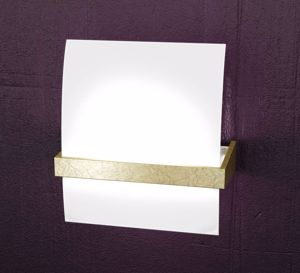 Picture of TOPLIGHT WOOD WALL LAMP MEDIUM WOOD GOLD