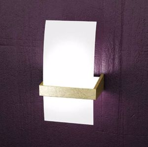 Picture of TOPLIGHT WOOD WALL LAMP SMALL WOOD GOLD LEAF